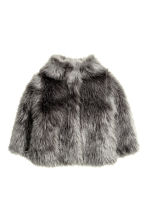 Faux fur jacket - Dark grey - Kids | H&M CN 2