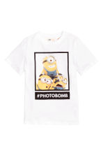 Printed T-shirt - White/Minions - Kids | H&M CN 2