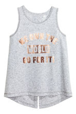 Sports vest top - Grey marl - Kids | H&M CN 2