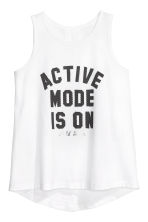 Sports vest top - White - Kids | H&M CN 2