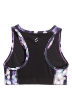 Sports top - Black/Purple - Kids | H&M CN 2
