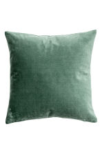 Velvet cushion cover - Moss green - Home All | H&M CN 1