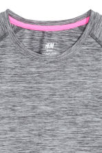 Sports top - Dark grey marl - Kids | H&M CN 3