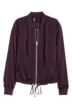 Bomber jacket - Dark purple -  | H&M CN 2