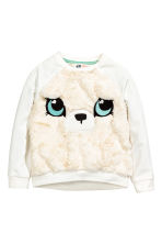 Sweatshirt - White/Bear - Kids | H&M CN 1