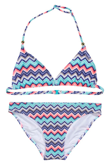 Triangle bikini - Turquoise/Dark blue - Kids | H&M CN 1