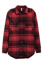 Checked flannel shirt - Dark red/Checked - Ladies | H&M GB 2