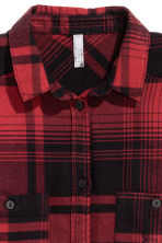 Checked flannel shirt - Dark red/Checked - Ladies | H&M GB 3