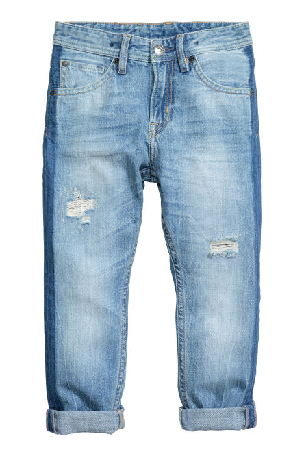 Tapered Worn Jeans