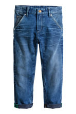 Tapered Worn Jeans - Bleu denim - ENFANT | H&M CH 2