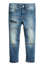 Skinny Fit Jeans with a zip - Denim blue - Kids | H&M CN 2