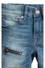 Skinny Fit Jeans with a zip - Denim blue - Kids | H&M CN 4