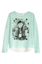 Printed jumper - Mint green - Kids | H&M CN 2