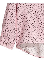 Long-sleeved blouse - Light pink/Heart - Kids | H&M CN 3