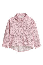 Long-sleeved blouse - Light pink/Heart - Kids | H&M CN 2