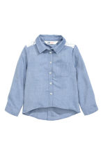 Long-sleeved blouse - Denim blue - Kids | H&M CN 2