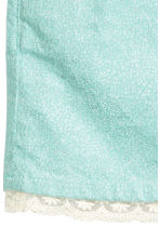 Corduroy skirt with lace - Mint green/Glittery - Kids | H&M CN 3