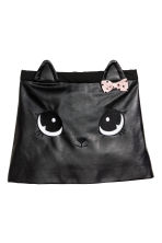 Imitation leather skirt - Black/Cat  - Kids | H&M CN 2