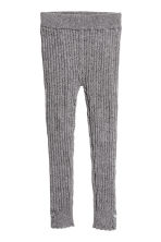 Cable-knit leggings - Dark grey marl - Kids | H&M CN 2