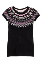 Jacquard-knit dress - Black - Kids | H&M CN 2
