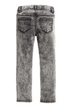 Treggings with studs - Dark grey washed out - Kids | H&M CN 3