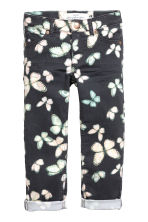 Stretch trousers - Black/Butterfly - Kids | H&M CN 2