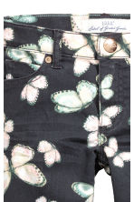 Stretch trousers - Black/Butterfly - Kids | H&M CN 3