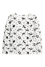 Printed jersey top - White/Bat - Kids | H&M CN 2