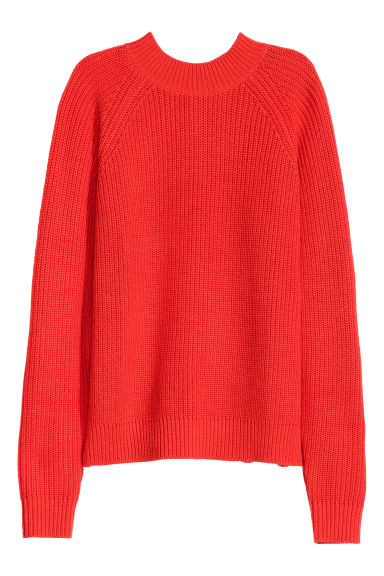 Knitted turtleneck jumper - Red - Ladies | H&M GB 1