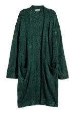 Knitted cardigan - Dark green marl -  | H&M CN 1