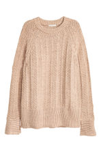 Pullover in maglia - Beige mélange - DONNA | H&M IT 2