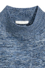 Knitted turtleneck top - Blue marl - Ladies | H&M CN 2