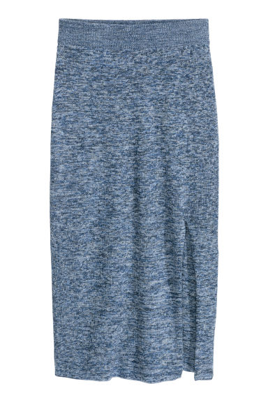 Gonna a tubino in maglia - Blu mélange - DONNA | H&M IT 1