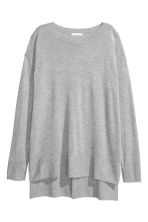 Fine-knit jumper - Grey marl -  | H&M CN 2