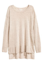 Fine-knit jumper - Light beige marl -  | H&M CA 2