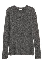 Ribbed jumper - Dark grey marl -  | H&M CN 2