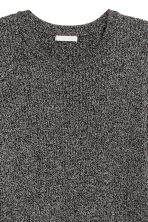 Ribbed jumper - Dark grey marl -  | H&M CN 3