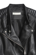 Biker jacket - Black -  | H&M 3