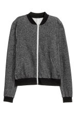 Sweatshirt jacket - Black marl - Ladies | H&M CN 2