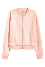 Sweatshirt jacket - Powder pink - Ladies | H&M CN 2