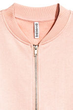Sweatshirt jacket - Powder pink - Ladies | H&M CN 3