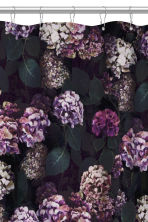 Photo-print shower curtain - Black/Hydrangea -  | H&M CN 3