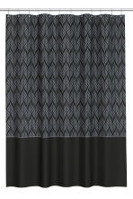 Patterned shower curtain - Black/Grey - Home All | H&M CN 1