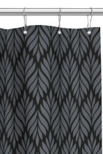 Patterned shower curtain - Black/Grey - Home All | H&M CN 2