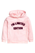 Hooded top - Light pink - Kids | H&M CN 2