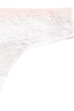 Lace half-string briefs - White/Powder pink - Ladies | H&M CN 3