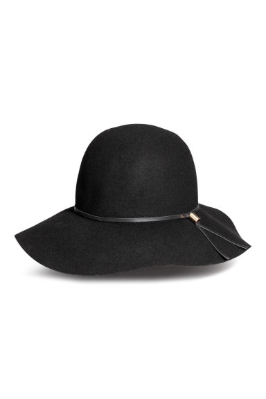 Felt hat - Black - Ladies | H&M CN 1