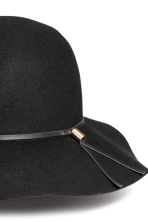 Felt hat - Black - Ladies | H&M CN 2