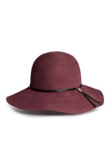 Felt hat - Burgundy - Ladies | H&M CN 1