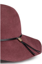 Felt hat - Burgundy - Ladies | H&M CN 2